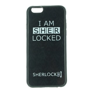 Sherlock iPhone 6 Hard Snap Case: I Am Sher Locked, Black - multi