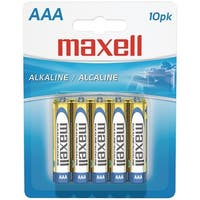 Maxell 723810 - Lr0310Bp Alkaline Batteries (Aaa; 10 Pk; Carded)