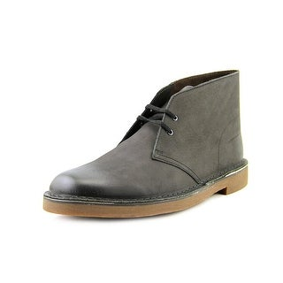 Clarks Bushacre 2 Men  Round Toe Leather Black Chukka Boot