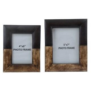 Michi Bronze Finish-Wood Photo Frame A2000198F Michi Bronze Finish/Wood Photo Frame (Set of 2)