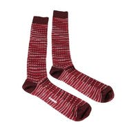 Missoni GM00CMU4950 0003 Red/White Knee Length Socks