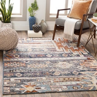 Link to Iver Southwestern Patchwork Area Rug Similar Items in Transitional Rugs