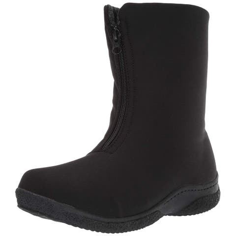 Propet Women's Madi Mid Zip Snow Boot Black 6 Narrow US