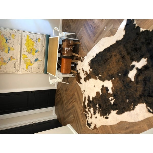 MAHOGANY BROWN Suede Cow Hide Leather 8x8 Piece