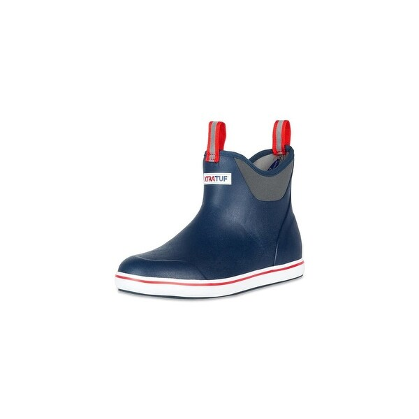 """Xtratuf Men's 6"""" Navy Ankle Deck Boot w/ XpressCool Lining - Size 7"""