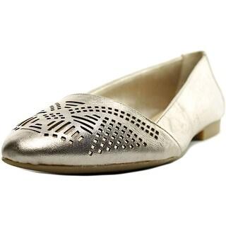 Bella Vita Owen Women W Pointed Toe Leather Bronze Flats