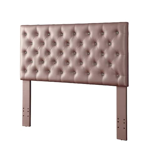 Furniture of America Jeer Contemporary Faux Leather Tufted Headboard