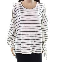 Caslon White Ivory Women's Size Medium M Scoop Neck Sweater
