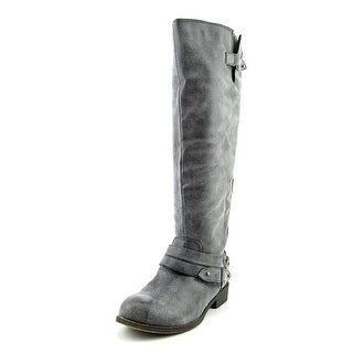 Madden Girl Caanyon Women Round Toe Synthetic Gray Knee High Boot