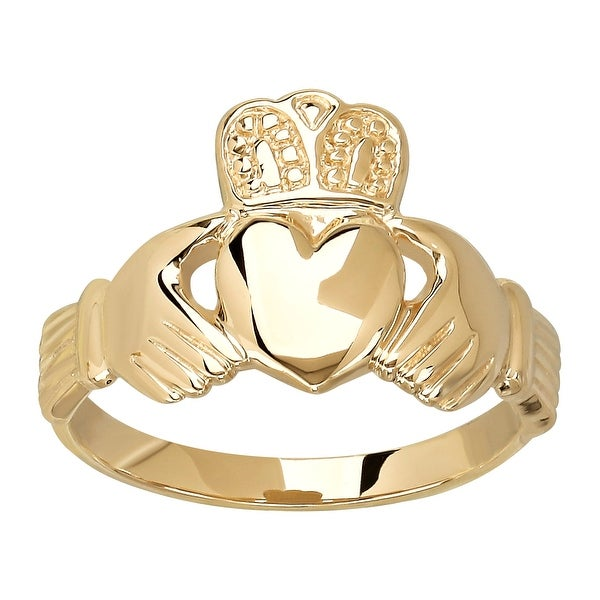 Eternity Gold Men's Claddagh Ring in 10K Gold