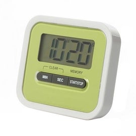 Digital Kitchen Timer Count Down Up Magnetic green