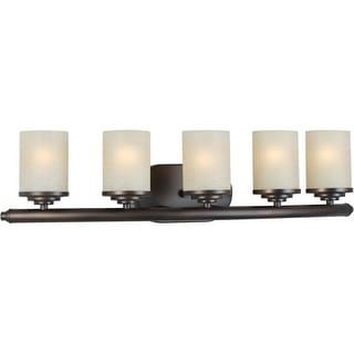 "Forte Lighting 5105-05 29"" Modern 5 Light Bathroom Fixture"