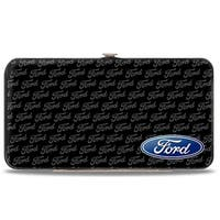 Ford Oval Corner W Text Hinged Wallet - One Size Fits most