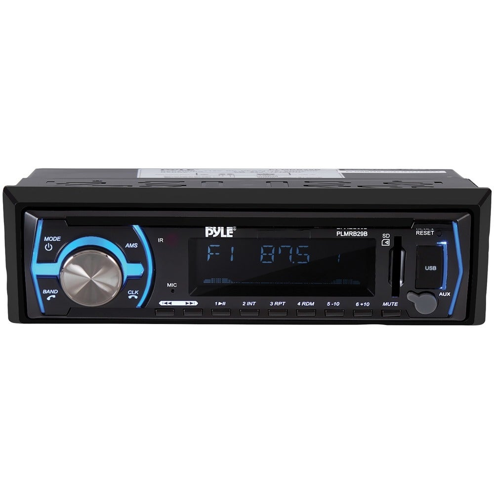 Pyle PLMRB29B SIngle-DIN In-Dash Digital Marine Stereo Receiver with Bluetooth (Black) -  Overstock