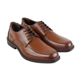Unlisted Kenneth Cole Secret Mission Mens Brown Leather Casual Dress Oxfords Shoes
