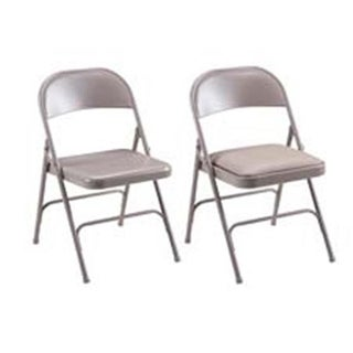 Folding Chairs- Padded Seat- 19-.38in.x18-.25in.x29-.63in.- 4-CT- BG