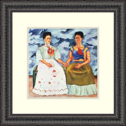 Framed Art Print 'The Two Fridas, 1939' by Frida Kahlo 15 x 15-inch