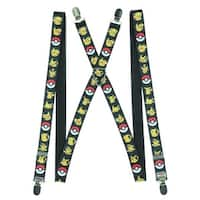 Pokemon Pikachu Pokeball Bullseye Suspenders - multi - One Size Fits most