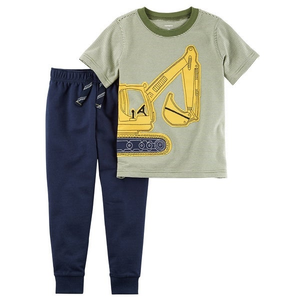 fea220a054ab Shop Carter s Baby Boys  2-Piece Construction Graphic Tee   Jogger ...