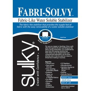 """Fabri-Solvy Soluble Stabilizer-20""""X36"""""""