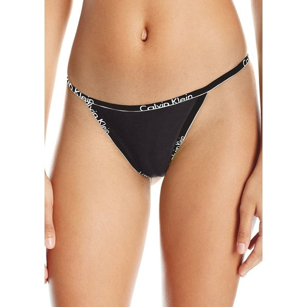 ab022846a7a0 Calvin Klein Women's Cotton Small Waistband Bikini String Panty Size  Extra Large