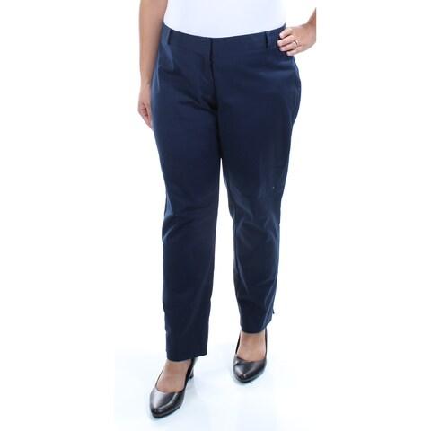 KENSIE Womens Navy Slim Legs Wear To Work Pants Size: L