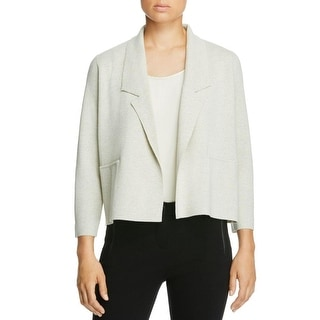 Eileen Fisher Womens Petites Jacket Wool Collar