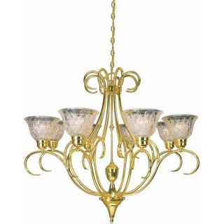 Volume Lighting V3998 Versailles 8 Light 1 Tier Chandelier