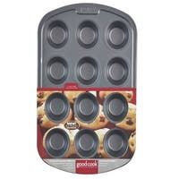"""Good Cook 004031 12 Cup Muffin Pan, 2-3/4"""""""