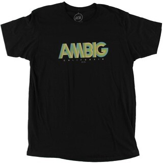 Ambig Mens T-Shirt Graphic Crew Neck - L