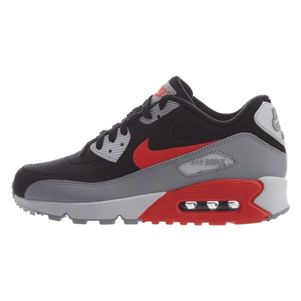 fc42bc50f07fe Shop Nike Men s Air Max 90 Essential Shoe Wolf Grey Bright Crimson ...