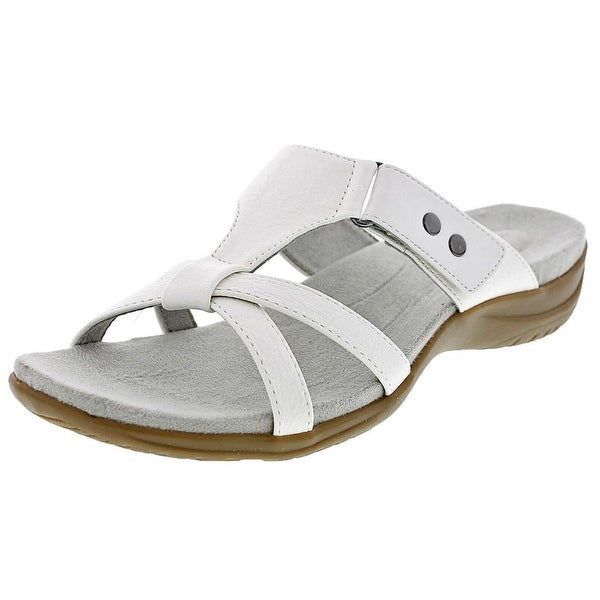 Easy Street Blaze Women W Open Toe Synthetic White Slides Sandal