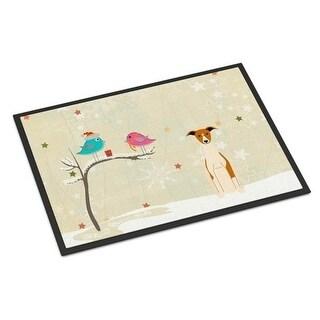 Carolines Treasures BB2571MAT Christmas Presents Between Friends Whippet Indoor or Outdoor Mat 18 x 0.25 x 27 in.