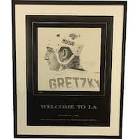 Wayne Gretzky signed LA Kings Welcome to LA  BW 16x20 Poster 99  Custom MattedFramed UDA  BAE61577