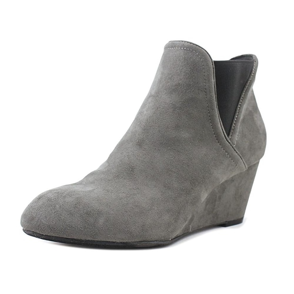 New Directions Cindy Women Round Toe Synthetic Gray Ankle Boot