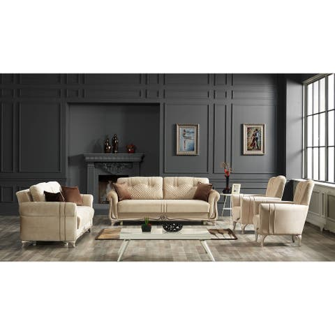 DiscountWorld Tollini Living Room Set (Two 3 Seat Sofas And Two Chairs) (3-3-1-1)