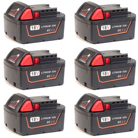 Battery for Milwaukee 48111850 (6-Pack) Replacement Battery