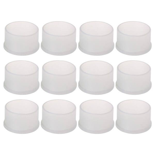 "Clear Chair Leg Caps End Feet Furniture Floor Protector 12pcs 2"" 50mm Inner Dia"