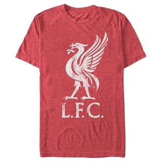 Liverpool Football Club Liver Bird Logo Mens Red Heather T Shirt