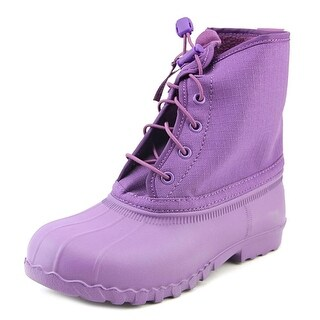 Native Jimmy Child Youth Round Toe Synthetic Purple Rain Boot