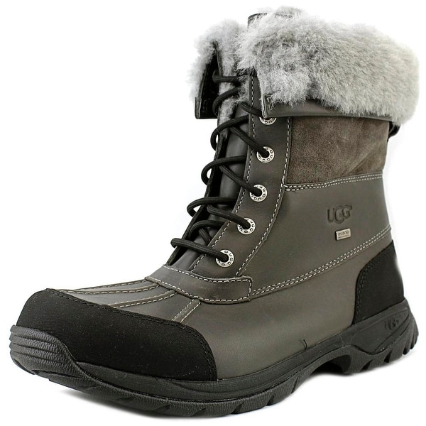 Ugg Australia Butte Men Round Toe Leather Gray Snow Boot
