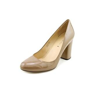 Via Spiga Carmen Women Round Toe Patent Leather Nude Heels