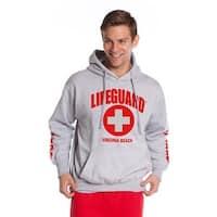 Official Lifeguard Guys Virginia Beach Hoodie Grey X-Large