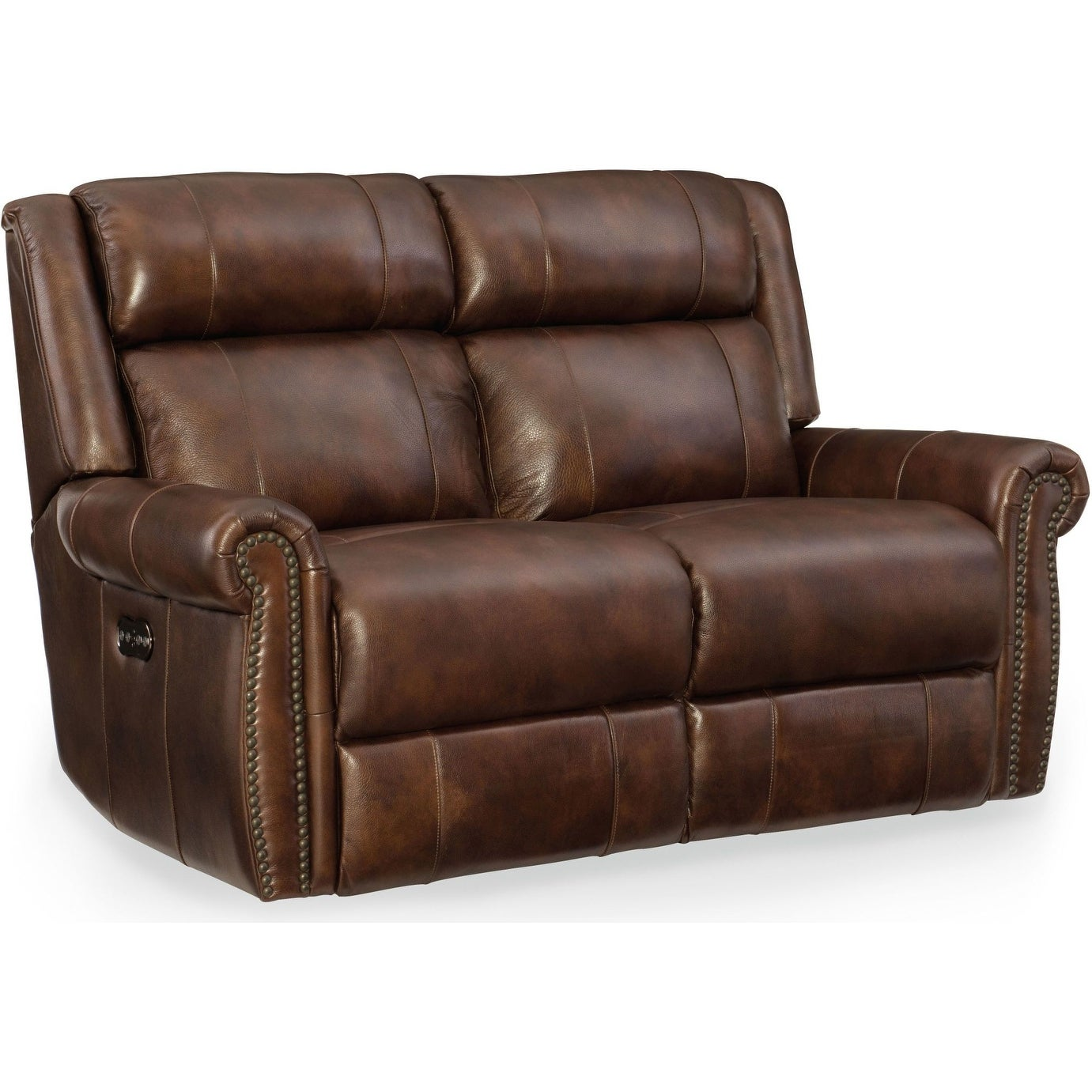 Stupendous Hooker Furniture Ss461 P2 188 61 3 4 Wide Leather Loveseat From The Esme Collection Sumatra N A Machost Co Dining Chair Design Ideas Machostcouk