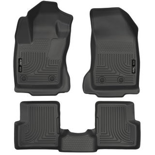 Husky Weatherbeater 2015-2016 Jeep Renegade Black Front & Rear Floor Mats/Liners