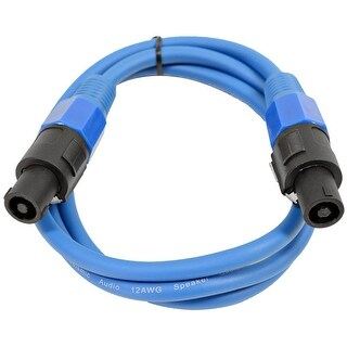 SEISMIC AUDIO 12 Gauge 5 Foot Blue Speakon to Speakon Speaker Cable 5'