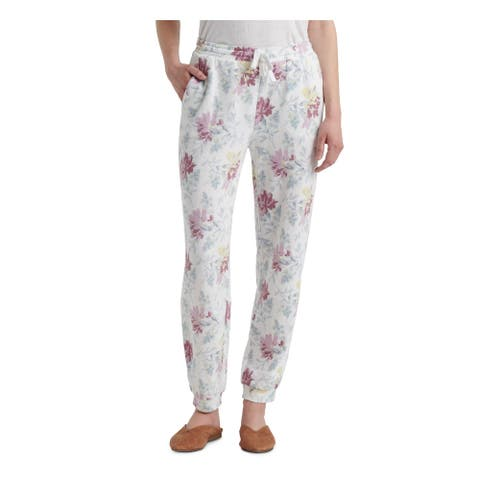 LUCKY BRAND Womens White Floral Pants Size XS