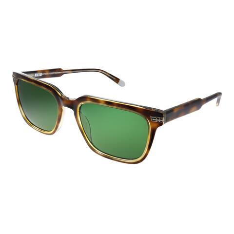 Original Penguin PE Suspender2.0 TO Unisex Tortoise Frame Green Polarized Lens Sunglasses