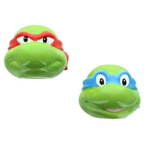 Teenage Mutant Ninja Turtles Leo and Raph Ceramic Salt & Pepper Shaker Set - Green