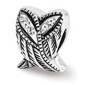 Sterling Silver Reflections Swarovski Elements Wings Bead (4mm Diameter Hole) - Thumbnail 0